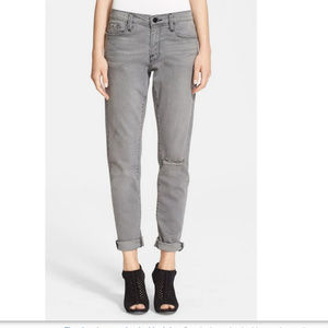 Frame Denim Le Garcon Gray Slim Jeans 26